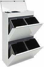 Top CR621-B Cubo de Basura y Reciclaje de Acero de