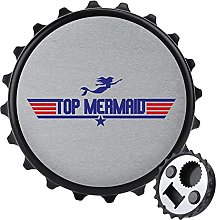 Top Mermaid Top Gun Logo abrebotellas, imán