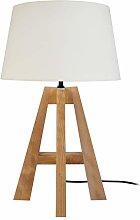 Tosel 65177 - Lámpara de mesa 1 luz, madera, E27,