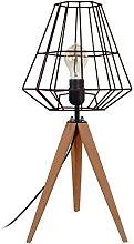 Tosel 65349lámpara de mesa, 1luz, madera,