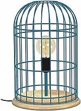 Tosel 65372 - Lámpara de mesa, 1 luz, madera,