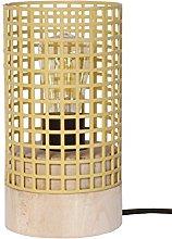 Tosel 65558lámpara de mesa, 1luz, madera,