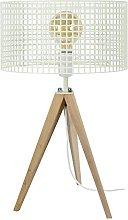 Tosel 65652lámpara de mesa, 1luz, madera,