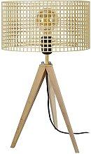 Tosel 65654lámpara de mesa, 1luz, madera,