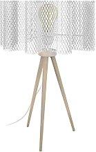 Tosel 65681 - Lámpara de mesa, 1 luz, madera,