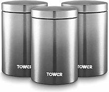 TOWER Tarros de Almacenamiento, Gris, Talla única
