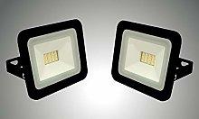 Trango Juego de 2 focos LED de 12 V – 24 V, 3000