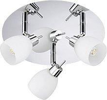 Trango moderno 3 de llama Luz de techo LED,