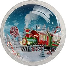 Tren de Navidad (4 piezas) pomos para puerta de