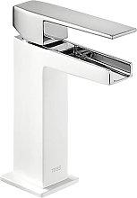 TRES - Grifo de lavabo Cascada Blanco SLIM TRES