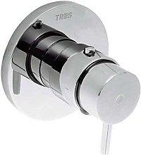 TRES - Grifo termostático de empotrar ducha