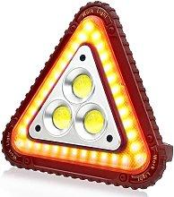 Triángulo de señalización LED portátil, Luz de