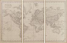 Tríptico mapamundi 159x101