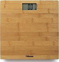 Tristar Báscula de baño bambú 180 kg