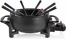Tristar Juego de fondue negro mate 1000 W 1,5 L