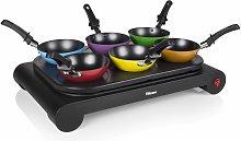 Tristar Juego de sartenes wok negro 1000 W