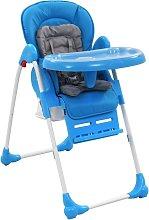 Trona de bebé azul y gris - Azul
