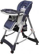 Trona de bebé Deluxe de altura ajustable azul