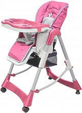 Trona de bebé Deluxe de altura ajustable rosa
