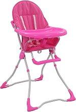 Trona de bebé rosa y blanco - Rosa