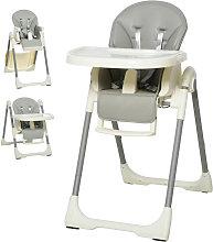 Trona para bebés evolutiva gris HomCom