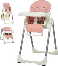 Trona para bebés evolutiva rosa HomCom
