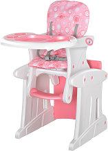 Trona para bebés rosa HomCom