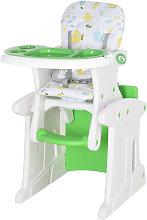 Trona para bebés verde HomCom