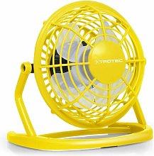 Trotec Ventilador color amarillo Sunny Yellow USB