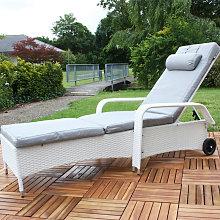 Tumbona ajustable mueble para patio Tumbona de