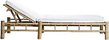 Tumbona Bambú, blanco