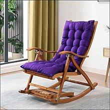 Tumbona de bambú plegable mecedora reclinable