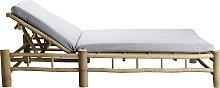Tumbona doble Bambú, gris