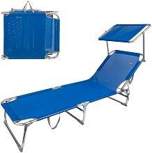Tumbona plegable aluminio con parasol Aktive Beach