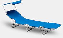 Tumbona plegable playa parasol Verona Lux
