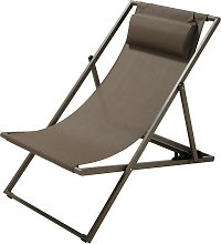 Tumbona/silla de playa plegable de metal topo