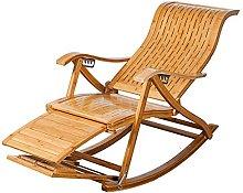 Tumbonas mecedora ajustable de bambú reclinable