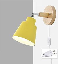 TXSAGL Lámpara de pared con enchufe de cable