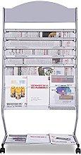 TYXL Office Magazine Rack Portable Floor Standing