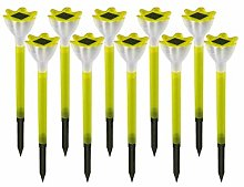 TYXQ 10 Paquetes de Luces LED solares Creativas de