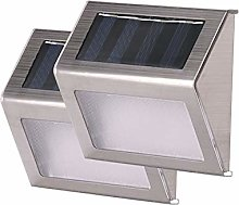 TYXQ 2pcs 3 LED Paso De Luz Solar Escaleras Valla
