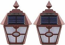 TYXQ Luces de Poste de Cerca Solar 2pcs Luces de