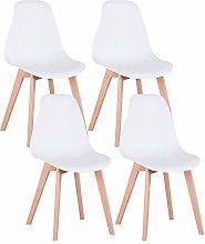 Uderkiny Conjunto de 4 sillas sillas de Comedor