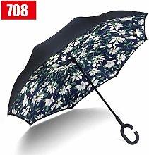 UKKD sombrilla Paraguas Inverso Lluvia Doble