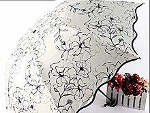 UKKD sombrilla UV Resistente Paraguas Sol Compacto