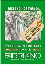 Unbekannt Fabriano Bloc de Dibujo, weiß, 21 x