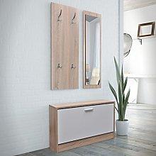 UnfadeMemory 3 en 1 Mueble Recibidor con Espejo y