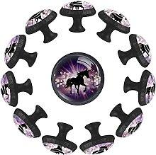 Unicornio Starburst - 12 pomos redondos para