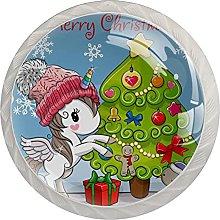 Unicornio y árbol de Navidad 4 unidades gabinete