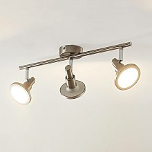 Unnur foco LED, 3 luces y alargado - Lindby